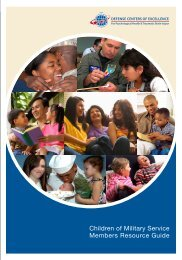 children of military Service members Resource guide - Defense ...