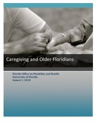 2008 Florida Caregiving Report 09-24-10 - Florida Office on ...