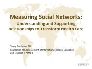 Measuring Social Networks: Understanding and Supporting ...