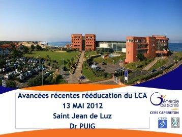 Avancées récentes dans la rééducation du LCA