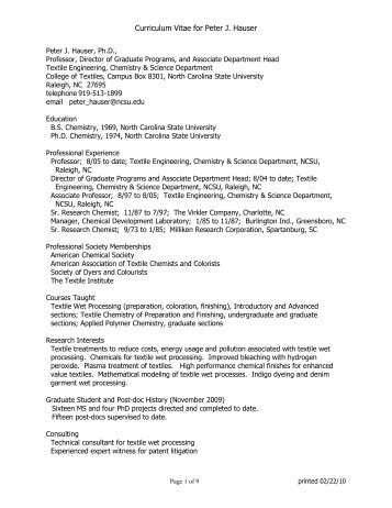 curriculum vitae of tonya coffey physics north carolina state