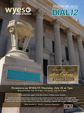 Premieres on WYES-TV Thursday, July 25 at 7pm