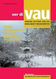 Weihnachtsausgabe 2011 - Vau-online.de