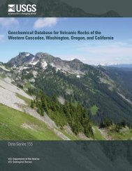 Geochemical Database for Volcanic Rocks of the Western Cascades ...