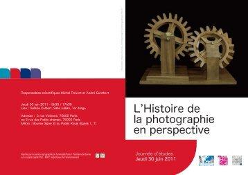 L'Histoire de la photographie en perspective - Université Paris 1 ...