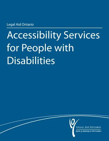 Accessibility Services for People with Disabilities - Legal Aid Ontario