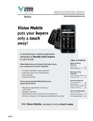 Vision Mobile puts your buyers only a touch away!