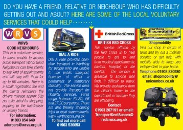 do you have a friend, relative or neighbour who has difficulty getting ...