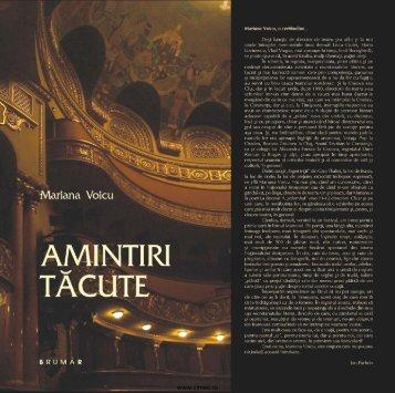 Voicu Mariana, Amintiri tăcute, Teatrul Naţional Mihai ... - cIMeC