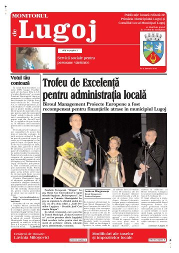Monitorul de Lugoj Nr.8 Ianuarie 2010 - Primăria Municipiului Lugoj