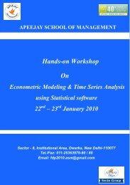 Hands-on Workshop On - Apeejay Education Society