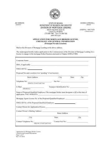 Application for Renewal of Escrow Agency License and Checklist