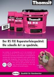 Der RS FIX Reparaturfeinspachtel: Die schnelle Art zu ... - allfloors
