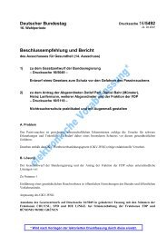 Beschlussempfehlung und Bericht des Ausschusses für ... - ABNR