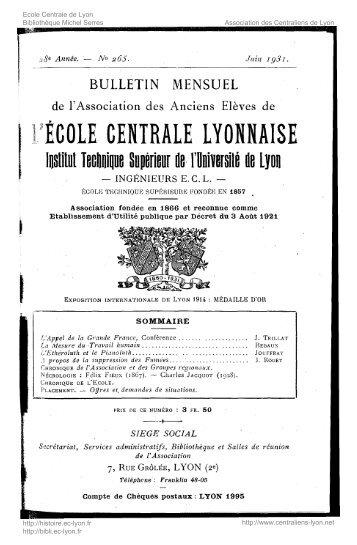 Revue Technica, année 1931, numéro 265 - Histoire de l'École ...