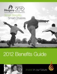 2012 Benefits Guide - Hospira