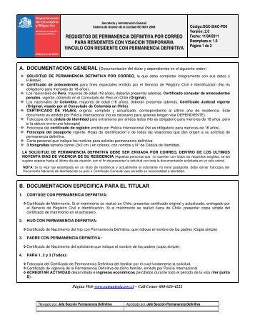 requisitos de permanencia definitiva por correo para residentes