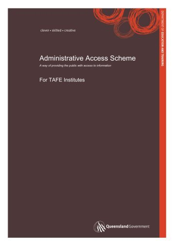 Administrative Access Scheme for TAFE Institutes - Training ...