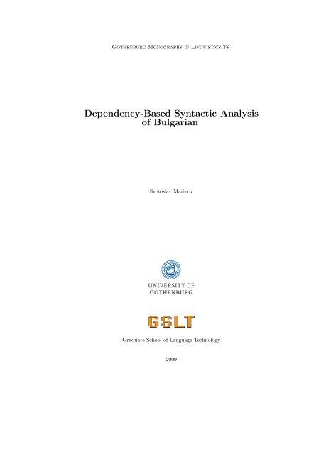 Dependency-Based Syntactic Analysis of Bulgarian