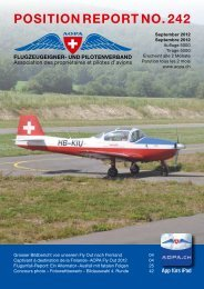 PoSition rePort no. 242 - AOPA Switzerland