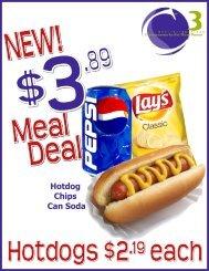 Hotdog Chips Can Soda - CampusDish
