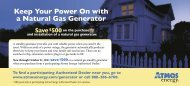 Keep Your Power On with a Natural Gas Generator - Atmos Energy