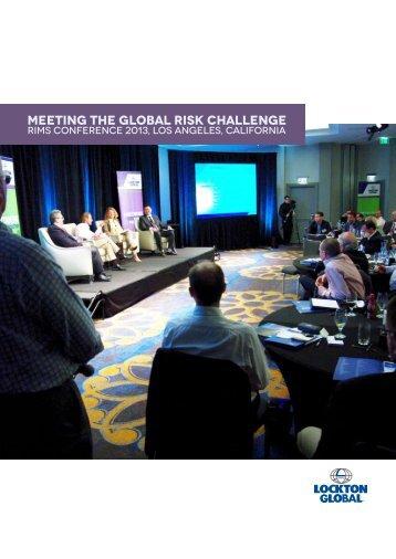 Meeting the Global Risk Challenge - European Risk Insurance ...