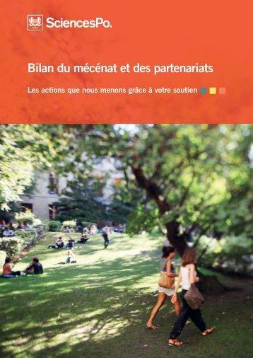 Bilan du mécénat et des partenariats - Sciences Po