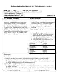 Grade 4 Unit 1 Lesson Plans.doc - East Aurora School District #131