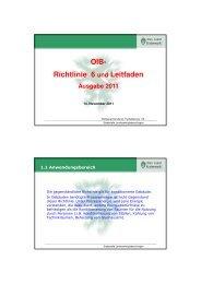 OIB-Richtlinie 6 und Leitfaden Ausgabe 2011