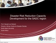 Disaster Risk Reduction Capacity Development for the SADC region