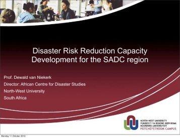 Disaster Risk Reduction Capacity Development for the SADC region