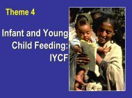 4.1: Guiding principles IYCF Ethiopia - Linkages Project