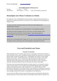 Hausaufgabe zum Thema - Petra-buchwald.de