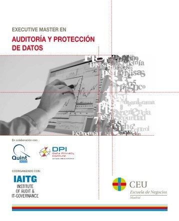 auDitOrÍa Y PrOtEcción DE DatOs - Institute of Audit & IT ...