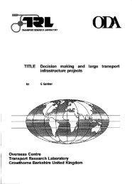 Decision making and infrastructure projects - Transport for ...