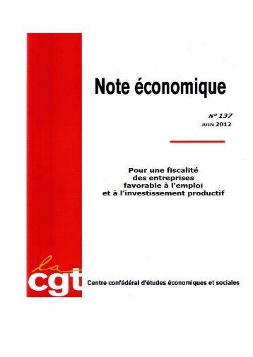 Projet note éco 06/12 - La cgt