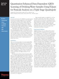 (QED) Scanning of Drinking Water Samples Using EQuan for ...
