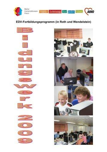 EDV-Fortbildungsprogramm (in Roth und Wendelstein) - der Awo ...