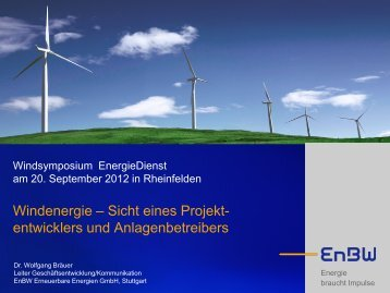 Dr. Wolfgang Bräuer - EnergieDienst AG