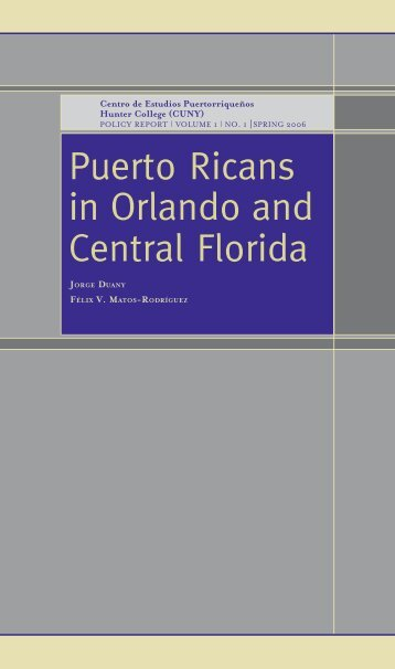 Puerto Ricans in Orlando and Central Florida - Latin American Studies