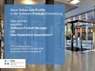 Neue Rollen in der Software Entwicklung - Swiss Requirements Night
