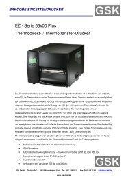 EZ - Serie 66x00 Plus Thermodirekt- / Thermotransfer-Drucker