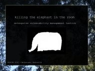 killing the elephant in the room - 2010 - Ruxcon