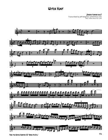 Finale NotePad - [hubbard-witchhunt.MUS] - Mind For Music