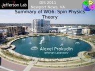 Summary of WG6: Spin Physics Theory - Jefferson Lab