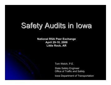 Welch Iowa Safety Audits