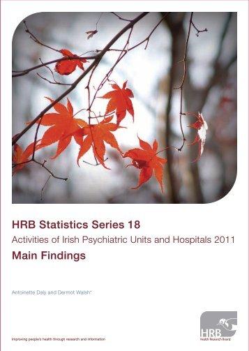 Activities of Irish Psychiatic Units and Hospitals 2011 Main Findings