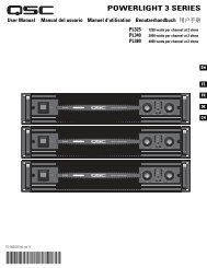PowerLight 3 Series User Manual - QSC Audio Products