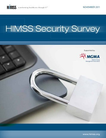 2011 HIMSS Security Survey Final Report November ... - About HIPAA
